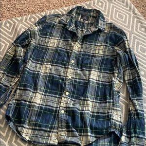 J CREW slim flannel